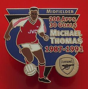 Danbury-Mint-Pin-Badge-Arsenal-Football-Club-FC-Michael-Thomas-Famous-Footballer