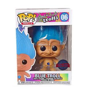 BLUE-Good-Luck-Trolls-Trolls-with-Hair-3-75-034-Adorable-Funko-Pop-Vinyl-Figure