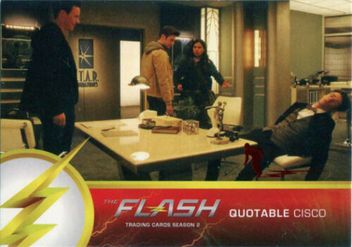 Flash Season 2 Scarlet Speedster Deco Red Foil Variant Quotable Q08 Chase Card