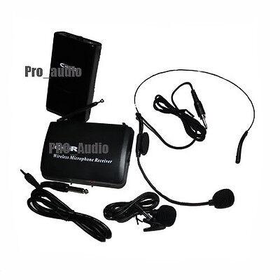 NEW pro wireless cordless headset Lapel ,mini Microphone DJ mic system