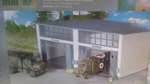 * Herpa Military 745857 Building set 2-stall Repair facility 1:87 HO Scale - Wroclaw, Polska - Zwroty są przyjmowane - Wroclaw, Polska
