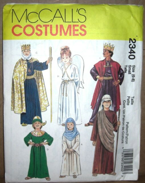McCalls Costume Sewing Pattern 2340 Child Size 12-14 Bible Robes ...