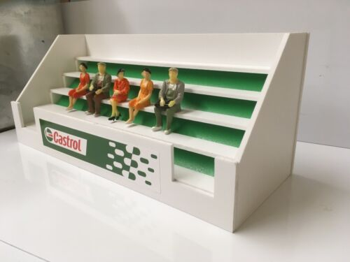 Castrol Slotcar 1//32 scale Grandstand /& 5x figures-CARRERA SCALEXTRIC SCX