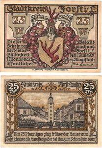 Germany 25 Pfennig 1921 Forst Notgeld UNC Uncirculated Banknote - Glasgow, United Kingdom - Germany 25 Pfennig 1921 Forst Notgeld UNC Uncirculated Banknote - Glasgow, United Kingdom