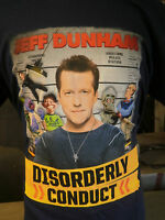 Jeff Dunham Shirt Disorderly Conduct Bubba J Walter Peanut Achmed Tour Rare