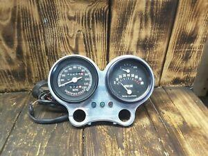 1990-Harley-FXRP-gauges-mount-lights-fuel-tach-speedo-FXR-Police