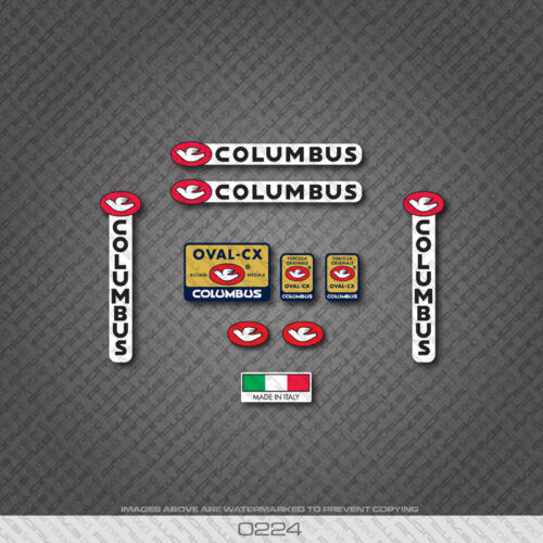 0224 Columbus OVAL CX Bicycle Frame and Fork Stickers Decals