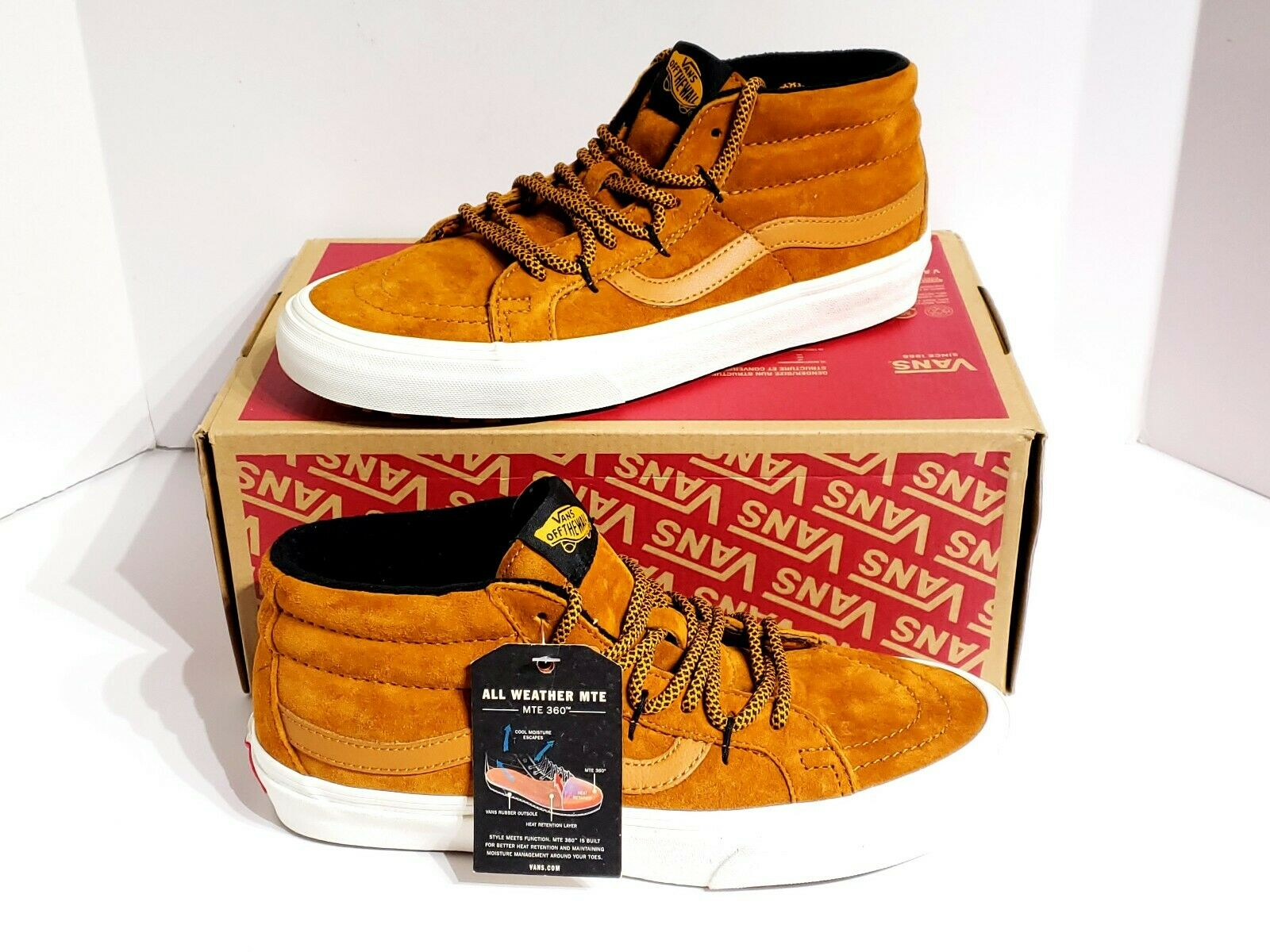 Vans SK8-Mid Reissue Ghillie MTE Sudan Brown Marshmallow VN0A3TKQUCS Mens SZ 11