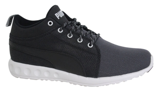 fa51505b1f0 Puma Carson Runner Mid Herring Lace Up Black Unisex Trainers 188689 01 U11