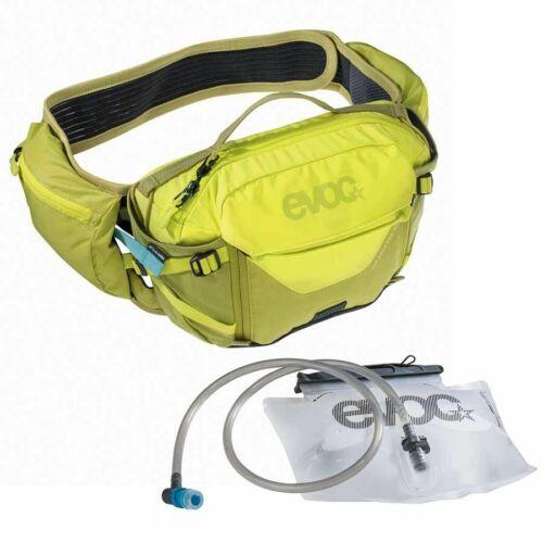EVOC Hip Pack Pro Hydration Bag 3L, Bladder Included 1.5L Sulphur/Moss Green