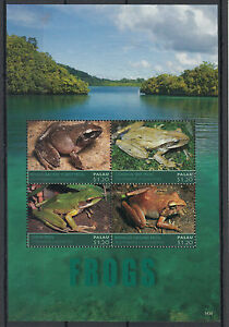 Palau-2014-MNH-Frogs-4v-M-S-Amphibians-Forest-Tree-Luzon-Ground-Frog-Fauna