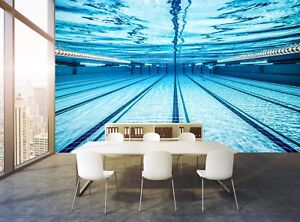 Swimming Pool  Photo Wallpaper Wall Mural Trendy DECOR Paper Poster Free Paste