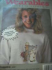 """Wearables """"Huggable"""" Waste Canvas Cross Stitch With Floss"""