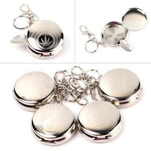 Reclamevoorwerpen Asbakken Pocket Ashtray with Key Ring Various Random Designs Lovely Gifts Gift bag opt