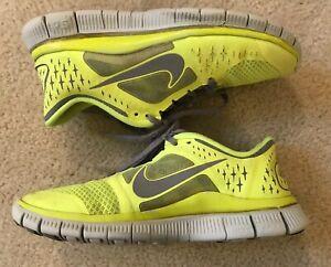 Womens Nike Free Run 5.0 Neon Yellow