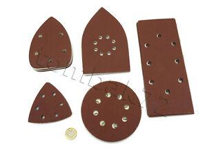 Hook-amp-Loop-Punched-SANDING-SHEETS-PADS-DISCS-Detail-Orbital-Palm-Mouse-Sander