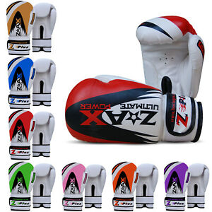 Leather-Gel-Boxing-Gloves-Sparring-Punch-Bag-Training-Pads-Junior-amp-Adults
