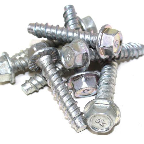 Paquete De 24 escupir ® M7.5 X 35mm Cabeza Hexagonal Hormigón Tornillo de fijación de Hormigón Resistente