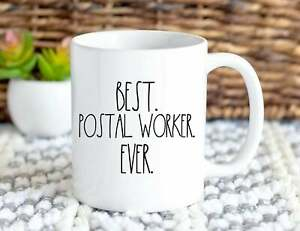 Best Postal Worker Ever Mail Carrier Mailman Gift For Mailwoman Christmas Coffee