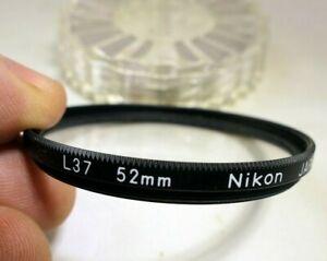 Nikon-52mm-L37-UV-haze-lens-filter-made-in-Japan-genuine-for-50mm-f1-8-Nikkor-Ai