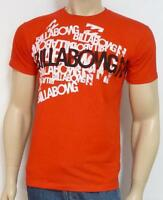 Billabong High Tide Tee Mens Red 100% Cotton T-shirt