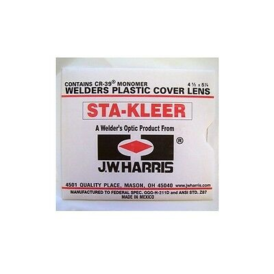 Harris Welding Helmet Clear Lens Cover 4.5 x 5.25 10 pk 1010140