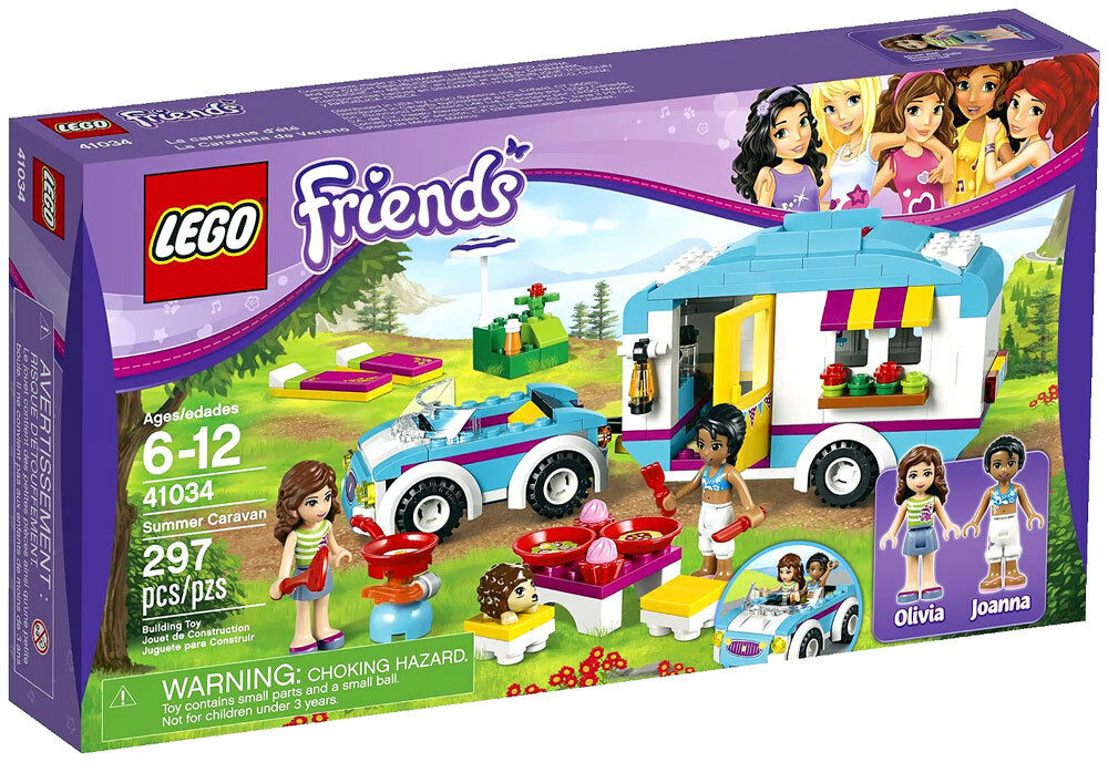 LEGO Friends 41034 Summer Caravan - NEW SEALED BOX - Retirot Factory Sealed