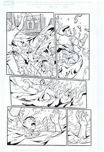 SPIDER-MAN-ORIGINAL-PUBLISHED-ART-PAGE-J-JONAH-JAMESON-HYDRO-MAN