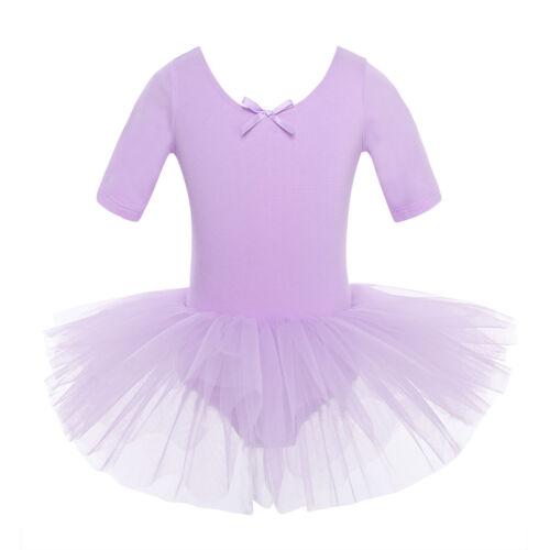 Child Girls Ballet Dance Tutu Dress Leotard Toddler Gymnastics Costume Dancewear