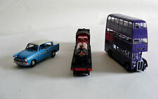 Harry Potter Corgi Diecast Full Set Ford Anglia Car Knight Bus &Hogwarts Express
