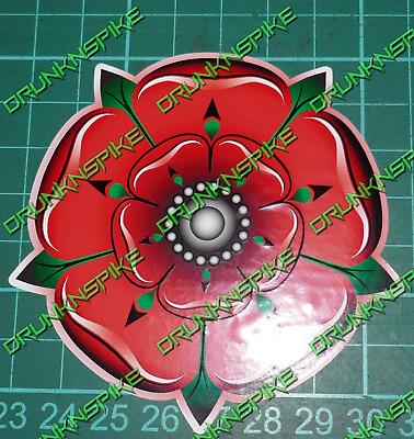 Lancashire Rose Fade Autocollant Vinyle Autocollant Noir Contour Fenêtre Drôle Voiture