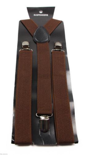 Hommes Bretelles Large Réglable Bretelles élastiques Y Forme fort clips Heavy Duty