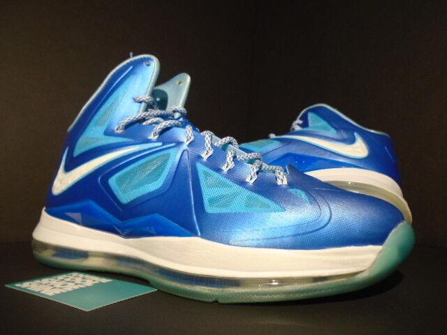 Nike lebron x 10   foto diamante blu windchill pozze d'acqua 542244-400 598360