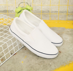 Men-039-s-Classic-Canvas-Shoes-Slip-On-Flat-Sports-Sneakers-Walking-Shoes-Loafers-sz