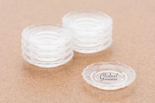 Dollhouse Miniatures Plastic Scallop-Edged Round Pie Dish