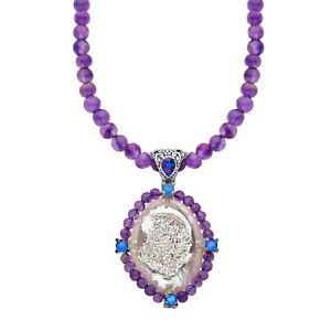 Sajen-Snow-Druzy-Royal-Quartz-amp-Amethyst-Necklace-in-Sterling-Silver