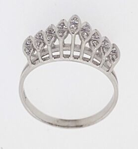 e284323c8bc9 Image is loading 18k-750-Diamond-Ring-set-with-18-Diamonds-