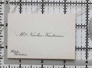 ANTIQUE-CALLING-CARD-MRS-NICHOLAS-KASTERINE-WORPLES-WESTERHAM