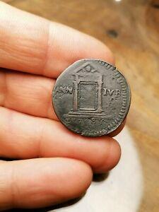MONETA COIN MUNZE ⚫ GUBBIO MEZZO BAIOCCO 1725 BENEDETTO ...