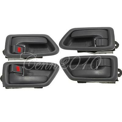 Grey Inside Door Handle Front Rear Left Right For 1997-2001 Toyota Camry Sienna