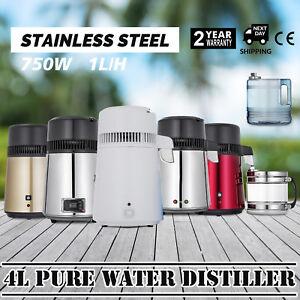 750W-4L-Wasser-Destilliergeraet-Water-Distiller-Einmachglas-Wasserflasche-Zuhause