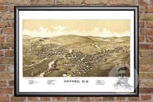 Vintage-Oxford-NY-Map-1888-Historic-New-York-Art-Old-Victorian-Industrial