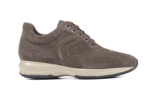 GEOX SNEAKER INVERNALE UOMO HAPPY U4356H 00022 C6693 SCAMOSCIATO DK TAUPE