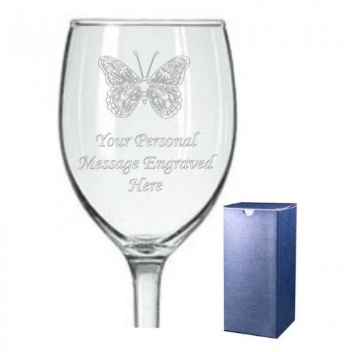 Personalised Wine Glass Husband Wife Fiancee Christmas Birthday Gift 073