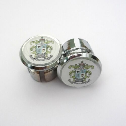 Repro Caps Vintage Style Hill Special Chrome Racing Bar Plugs