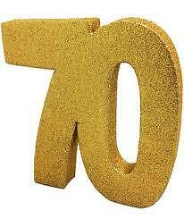 Happy 70th Birthday Bday PARTY ITEMS Decorations Tableware BLACK /& GOLD Age 70