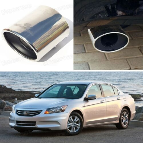 1Pcs Oval Exhaust Muffler Tail Pipe Tip Tailpipe fit for Honda Accord 2011 2012