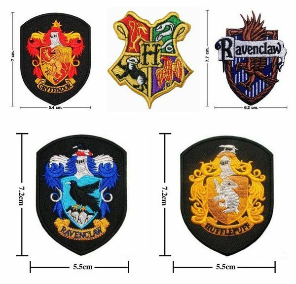 Hogwart Harry Potter School Crest Iron On Embroidered Patch Badge Wizard Costume