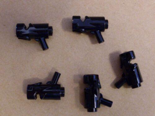 5 Lego Weltraum  Blaster Pistolen Waffen Faser schwarz Space Raumfahrt Neu