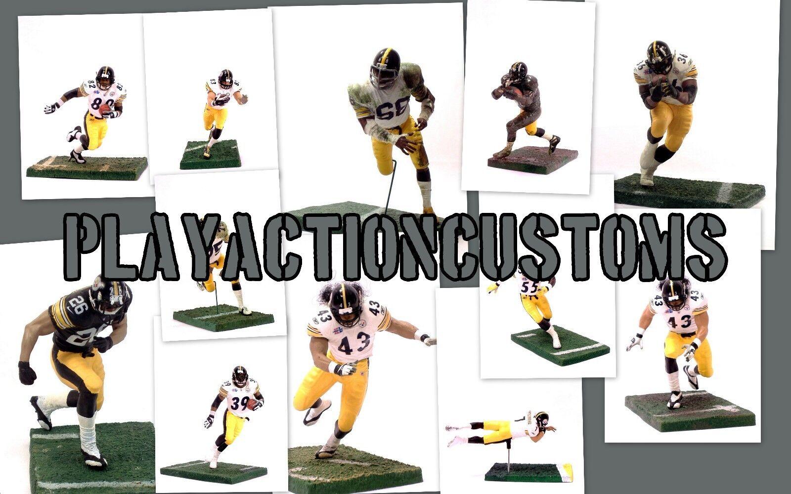 Elección de 1 Figura de Acción de Pittsburgh Steelers personalizada hecha con Mcfarlane Nfl